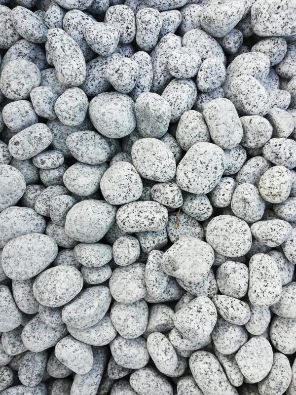 Dekoratyviniai akmenys fr. 20-40 mm, šviesiai pilki www.ponasakmuo.lt