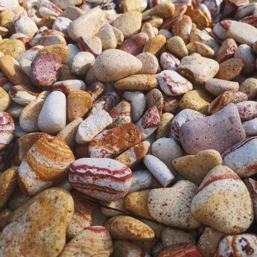 Dekoratyviniai akmenys fr. 20-40mm, gelsvi