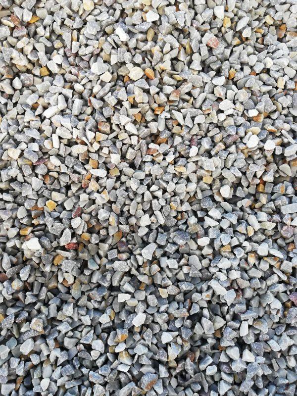 Kvarcito skalda fr. 5-8 mm, pilka www.ponasakmuo.lt