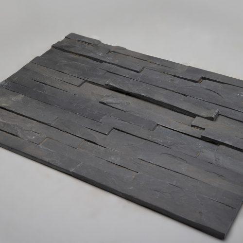 Fasadinės apdailinės plokštės 600x150x15-25mm, juodos www.ponasakmuo.lt