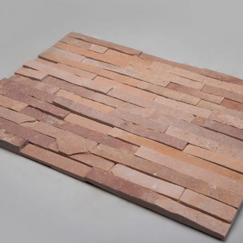Fasadinės apdailinės plokštės 600x150x15-25mm, rausvos