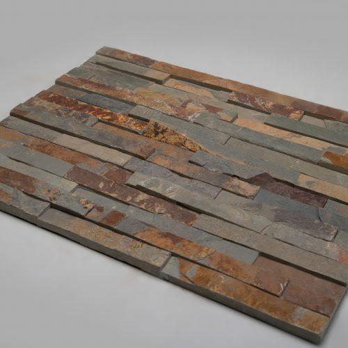 Fasadinės apdailinės plokštės 600x150x15-25mm, rudos